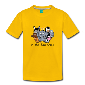 Toddler In the Zoo Crew T-Shirt - sun yellow