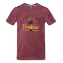 Load image into Gallery viewer, Men's Escape to the Smokies T-Shirt - heather burgundy