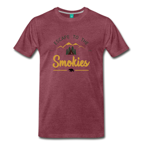 Men's Escape to the Smokies T-Shirt - heather burgundy