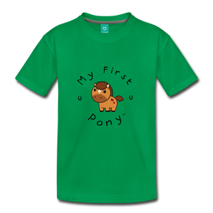 Kids' My First Pony T-Shirt (light brown) - kelly green