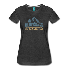 Load image into Gallery viewer, Women's Bluegrass Mountains Speak T-Shirt - charcoal gray