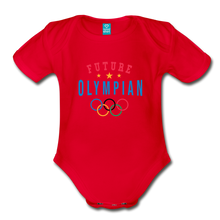 Load image into Gallery viewer, Future Olympian Baby Bodysuit - red