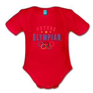 Future Olympian Baby Bodysuit - red