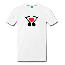 Load image into Gallery viewer, Men's Heart Music Note T-Shirt - white