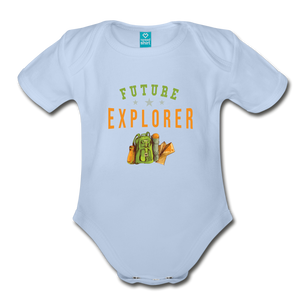 Future Explorer Baby Bodysuit - sky