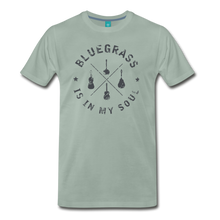 Load image into Gallery viewer, Men's Bluegrass is in my Soul T-Shirt - steel green