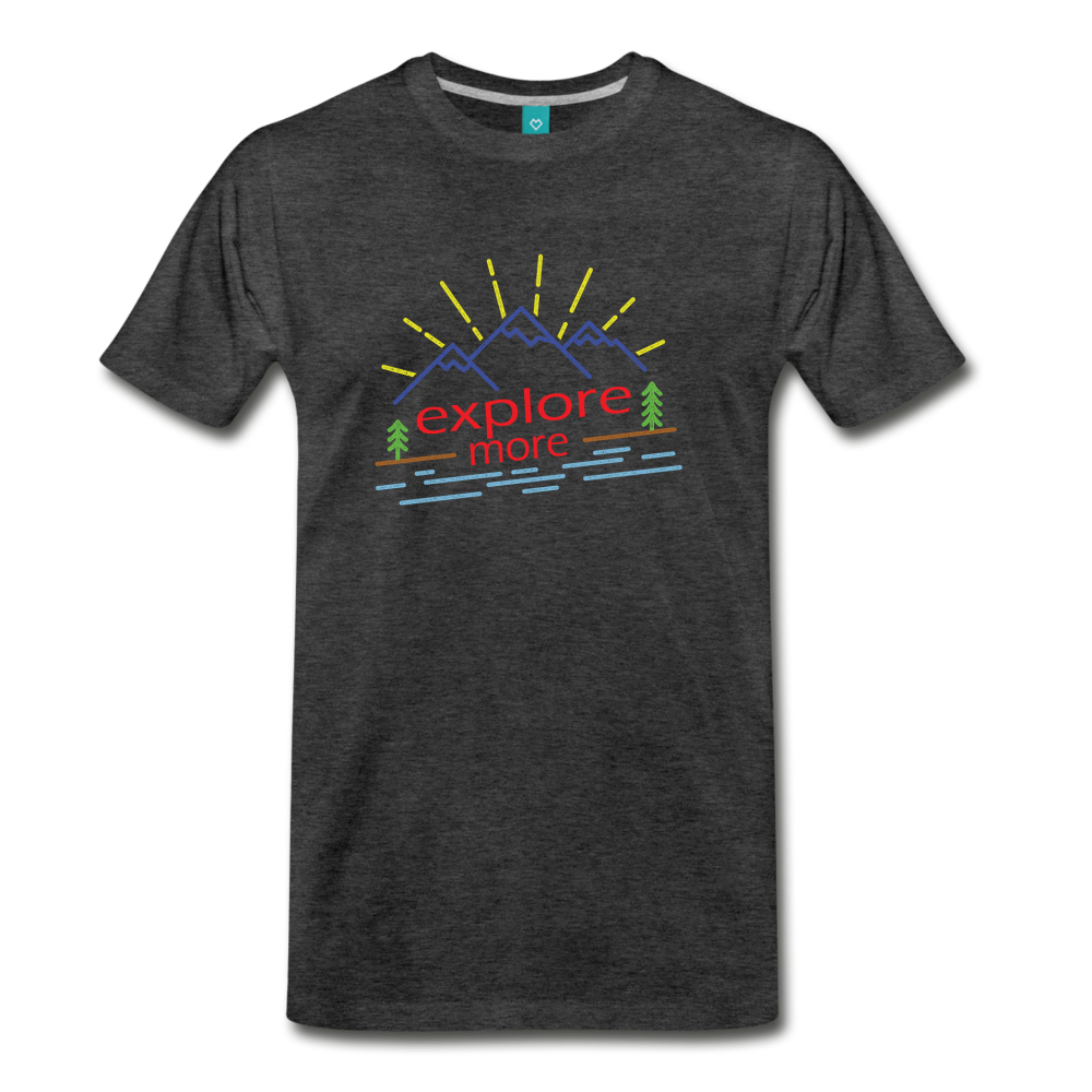 Men's Colored Explore More T-Shirt - charcoal gray