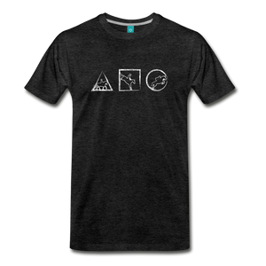 Men's Horse Symbols T-Shirt - charcoal gray