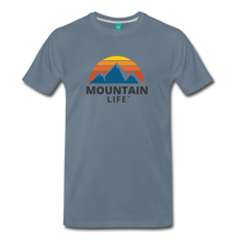 Load image into Gallery viewer, Mountain Life Shirt - steel blue