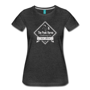 Women's The Peak Horse Diamond T-Shirt - charcoal gray