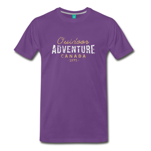 Men's Outdoor Adventure Canada T-Shirt - purple