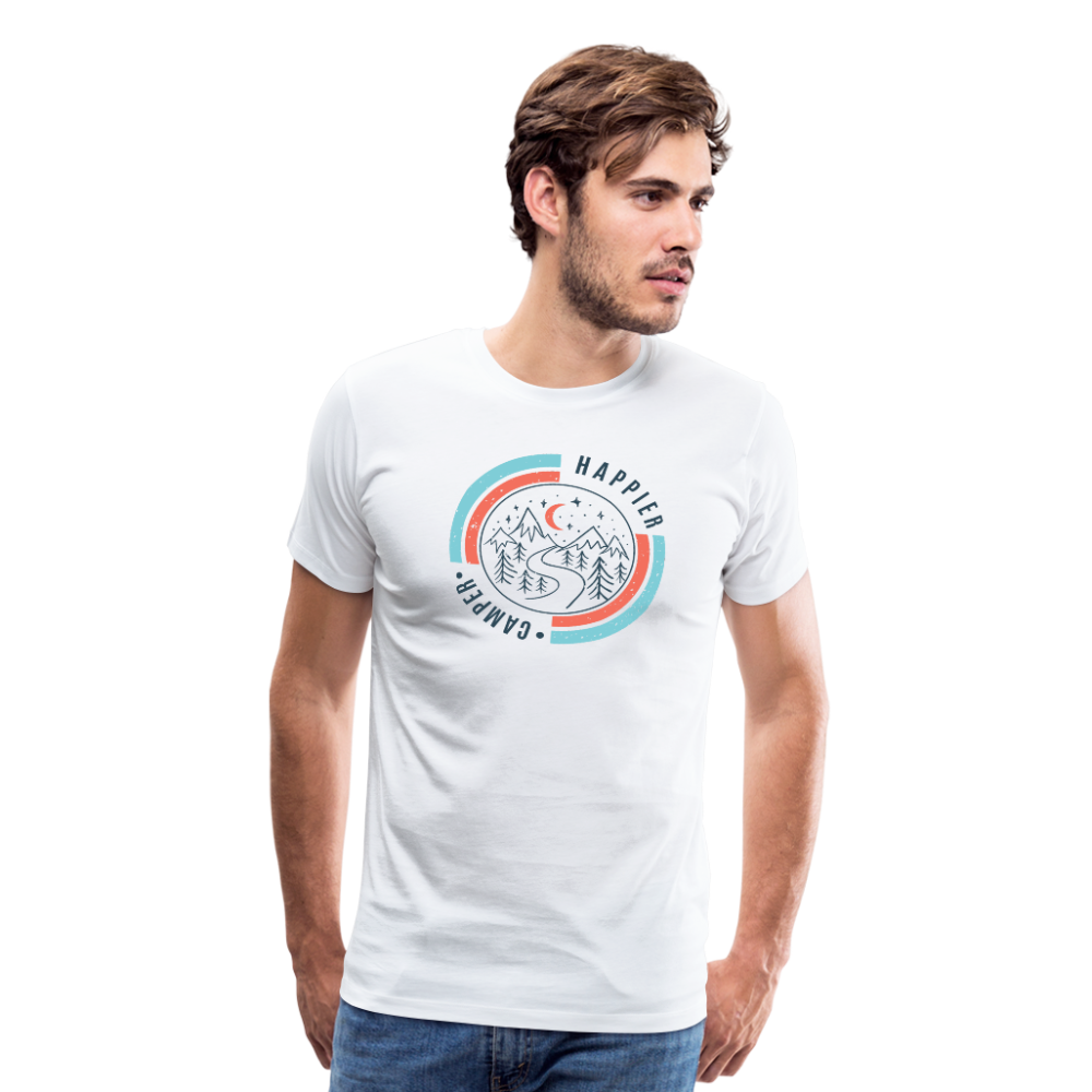 Men's Happier Camper T-Shirt - white