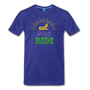 Men's Eat Sleep Ride T-Shirt - royal blue