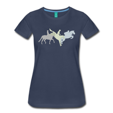 Load image into Gallery viewer, Women's Shadowed Eventing T-Shirt - navy