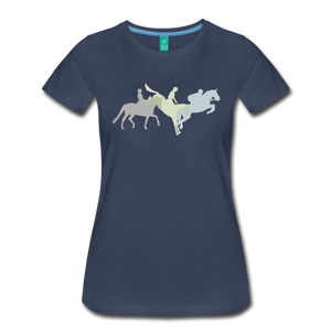 Women's Shadowed Eventing T-Shirt - navy