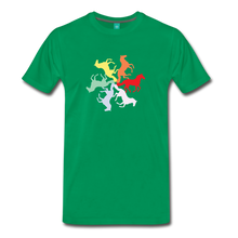 Load image into Gallery viewer, Men's Rainbow Horse Circle T-Shirt - kelly green