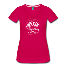 Load image into Gallery viewer, Women's Mountains T-Shirt (white) - dark pink