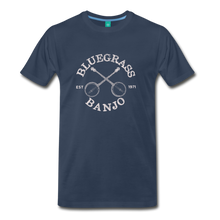 Load image into Gallery viewer, Men's Bluegrass Banjo T-Shirt - navy
