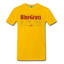 Load image into Gallery viewer, Men's Bluegrass is the Soul T-Shirt - sun yellow