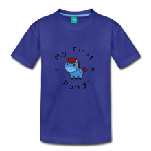 Load image into Gallery viewer, Kids' My First Pony T-Shirt (blue) - royal blue