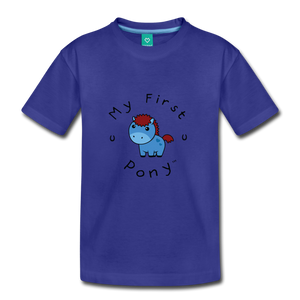 Kids' My First Pony T-Shirt (blue) - royal blue