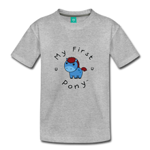 Load image into Gallery viewer, Kids' My First Pony T-Shirt (blue) - heather gray