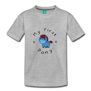 Kids' My First Pony T-Shirt (blue) - heather gray