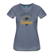 Load image into Gallery viewer, Women's Escape to the Smokies T-Shirt - heather blue