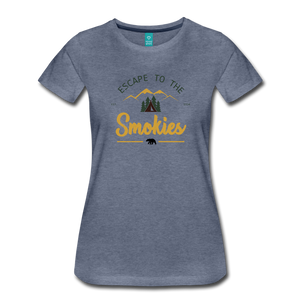 Women's Escape to the Smokies T-Shirt - heather blue