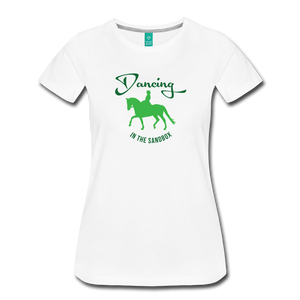 Women's Dancing in the Sandbox T-Shirt - white
