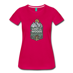 Women's Lost T-Shirt - dark pink
