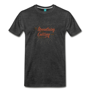 Men's Mountain Calling T-Shirt - charcoal gray
