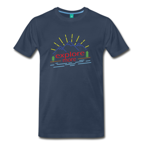 Men's Colored Explore More T-Shirt - navy