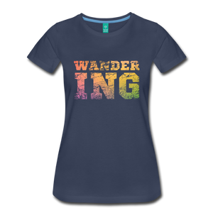 Women's Wandering T-Shirt - navy