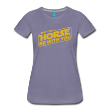 Load image into Gallery viewer, Women's May The Horse be with You T-Shirt - washed violet