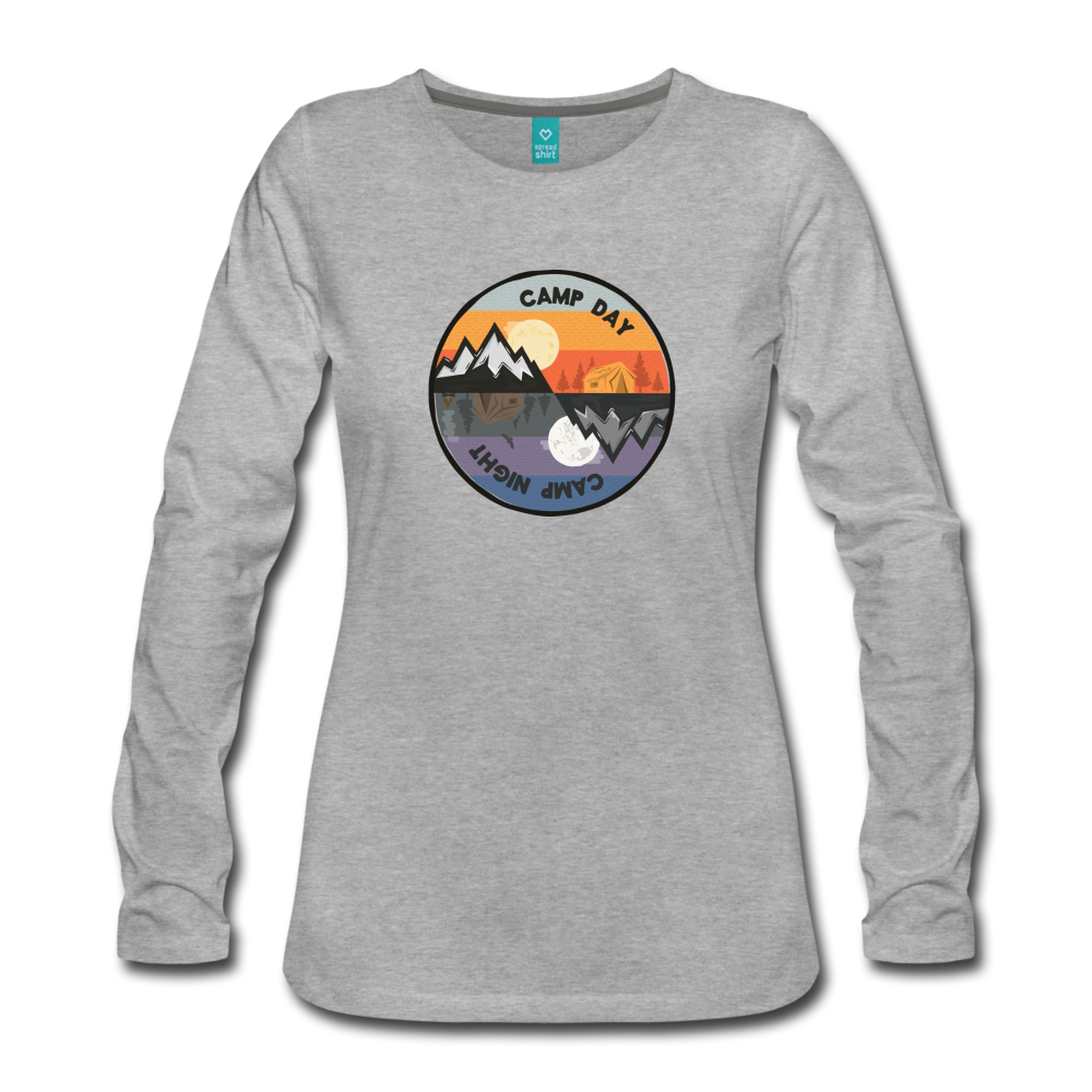 Women's Camp Day Long Sleeve Shirt - heather gray
