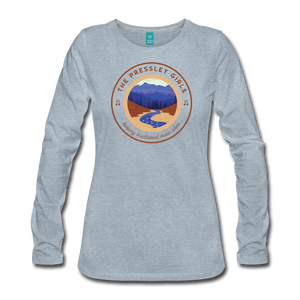 Women's The Pressley Girls Long Sleeve T-Shirt - heather ice blue