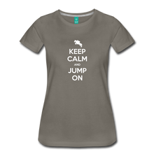 Load image into Gallery viewer, Women's Keep Calm and Jump On T-Shirt - asphalt