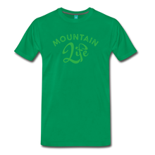 Load image into Gallery viewer, Men's Mountain Life (script) T-Shirt - kelly green