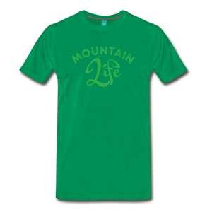Men's Mountain Life (script) T-Shirt - kelly green