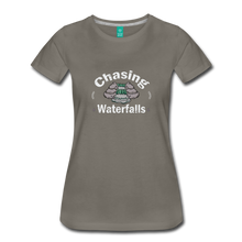 Load image into Gallery viewer, Women's Chasing Waterfalls T-Shirt - asphalt