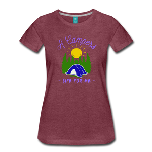 Women's Campers Life T-Shirt - heather burgundy