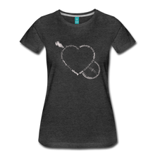 Load image into Gallery viewer, Women's Bnajo Heart T-Shirt - charcoal gray