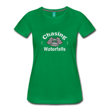 Load image into Gallery viewer, Women's Chasing Waterfalls T-Shirt - kelly green
