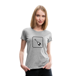 Women's Mandolin Icon T-Shirt - heather gray