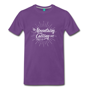 Men's Mountain Calling T-Shirt (white) - purple