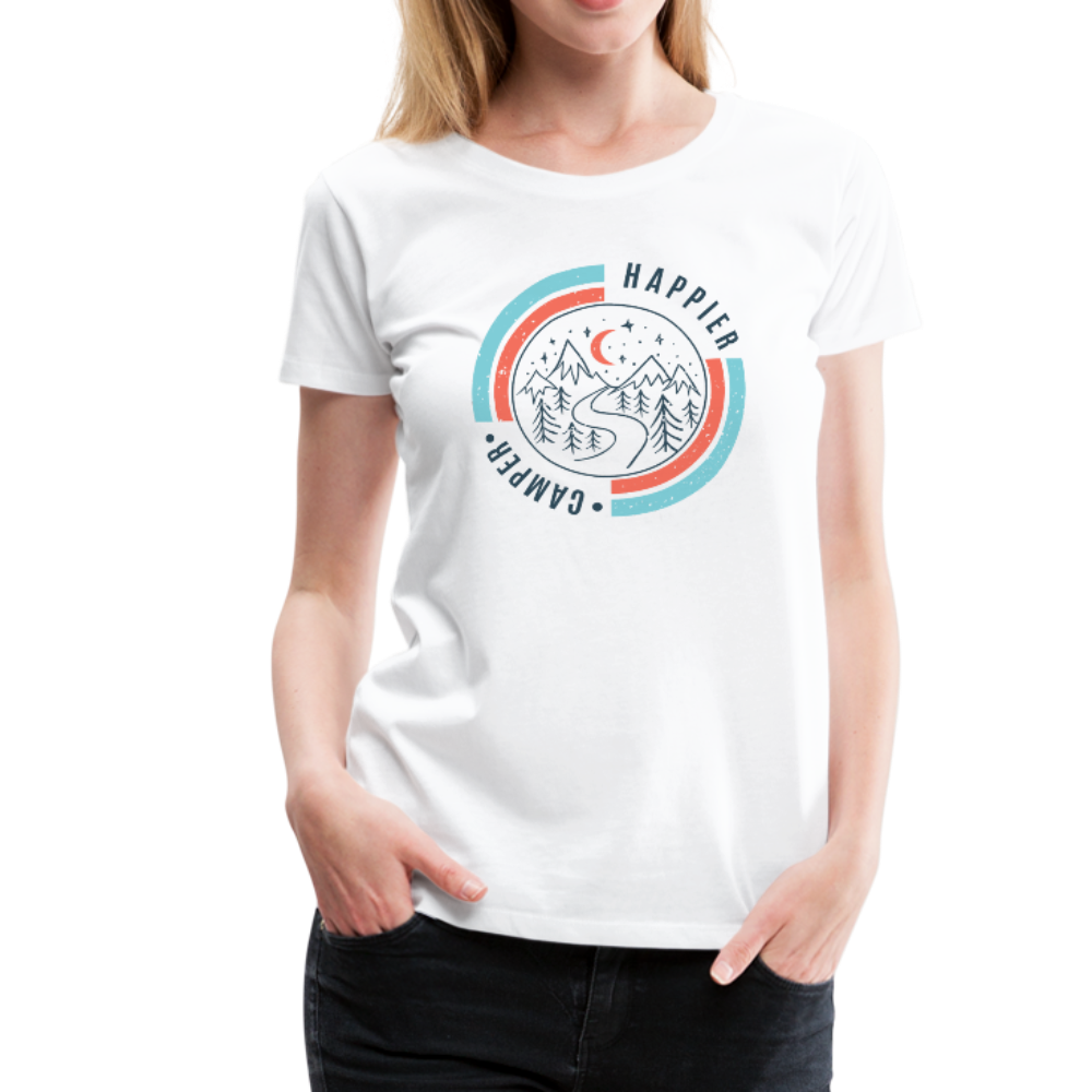 Women's Happier Camper T-Shirt - white