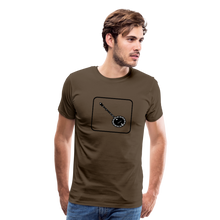 Load image into Gallery viewer, Men's Banjo Icon T-Shirt - noble brown