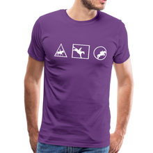 Load image into Gallery viewer, Men's Horse Symbols (solid) T-Shirt - purple