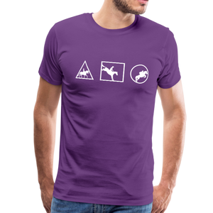 Men's Horse Symbols (solid) T-Shirt - purple